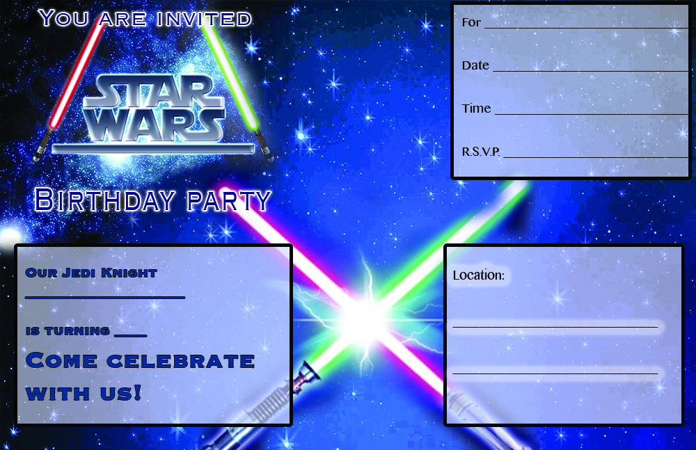 FREE STAR WARS PARTY INVITATION