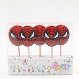 Spiderman themed party Candles