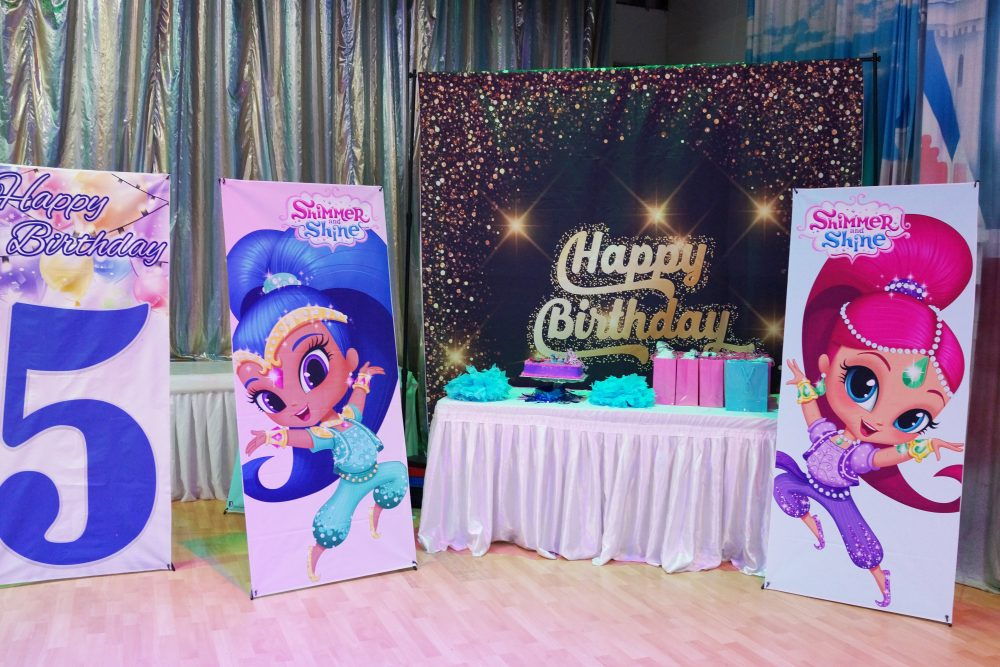 Shimmer and shine party toronto welcome to fairyland for Number 4 decorations