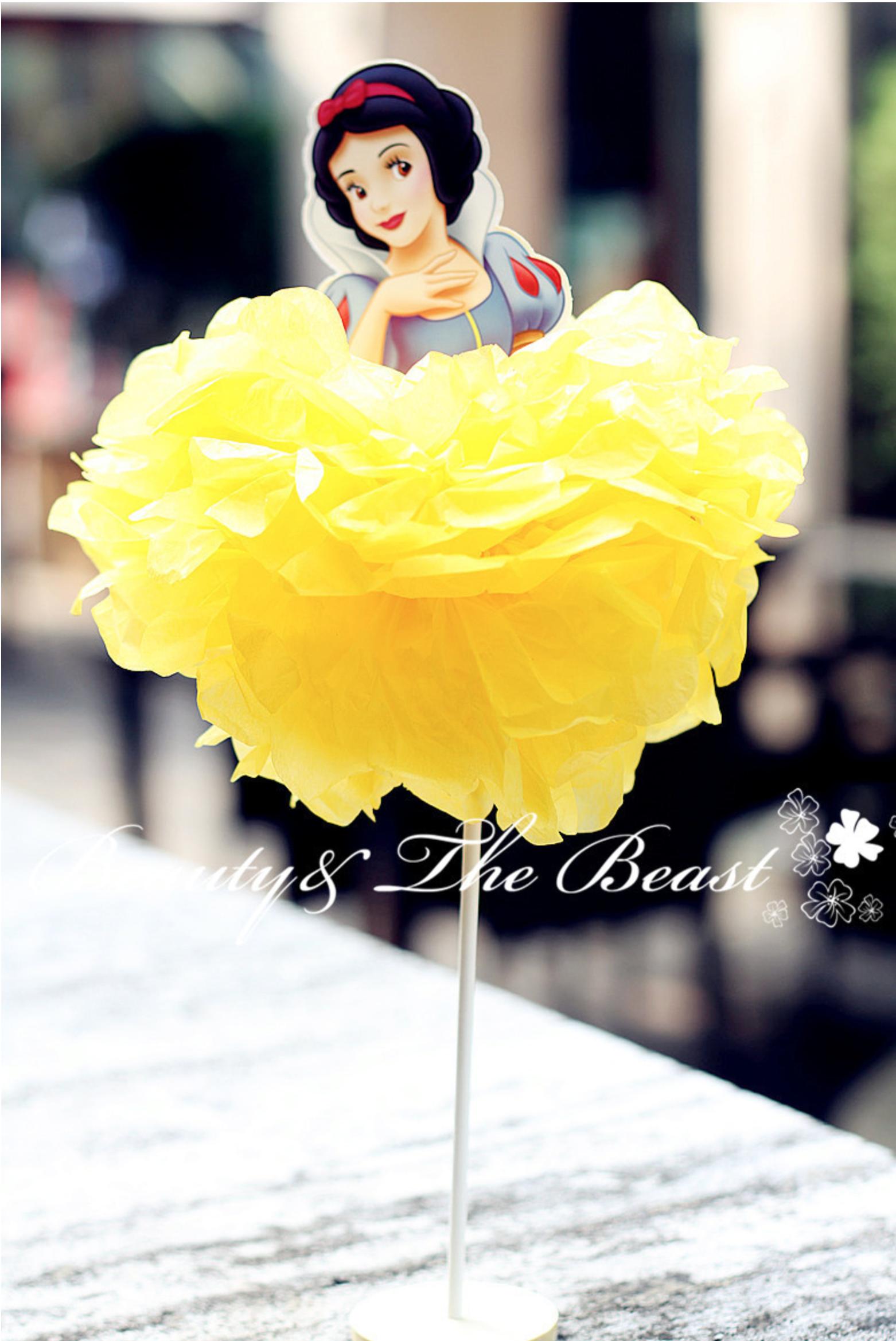 Snow White Cake Topper I Princess Party Decorations