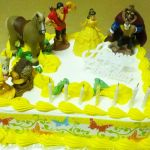 belle themed party cake